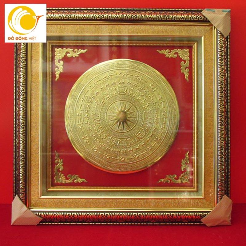 Hình ảnh Tranh trống đồng mạ vàng đường kính mặt trống 30cm