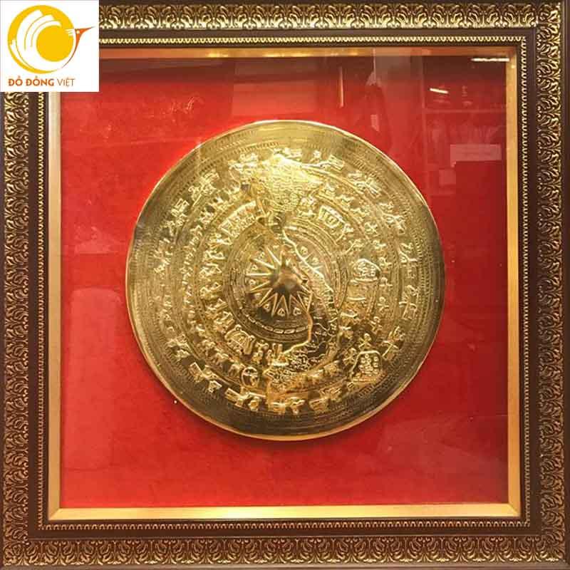 Tranh mặt trống đồng mạ vàng 24k rẻ đẹp tại Hà Nội