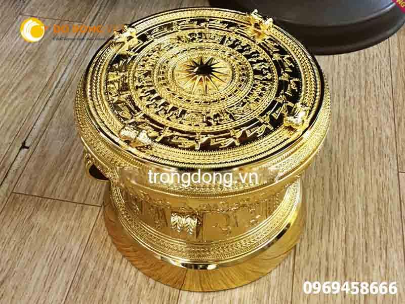 bán trống đồng lưu niệm mạ vàng